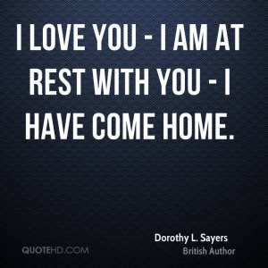 Dorothy L. Sayers Home Quotes