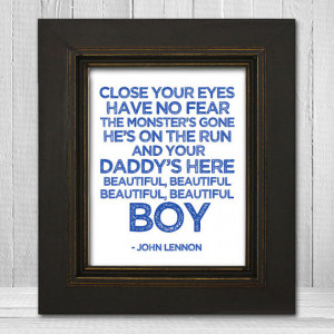John Lennon Nursery Print 11x14 - Beatles Nursery Print - Beautiful ...