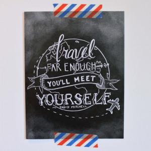 Travel Card - Bon Voyage Card - David Mitchell Quote - Inspirational ...