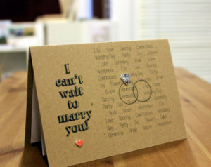 ... Card // Marriage Card // Wedding Day Card // I can't wait to marry you