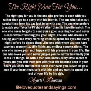 The Right Guy For You - Love Quotes And Sayings