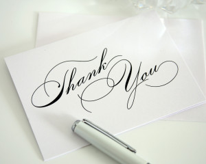 thank you cards vintage glam thank you cards