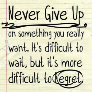 never give up! #inspiration #quote