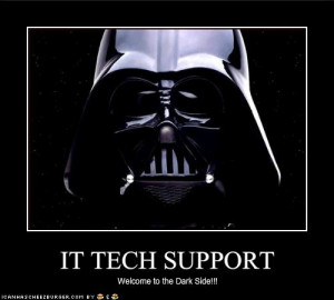Me—it's dealing with Technical Support.