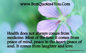 ... quotes | ... comes from peace of mind | My Quotes Home - Quotes About