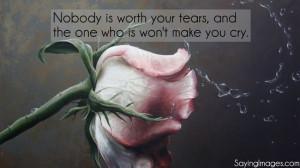 Only tears of joy...