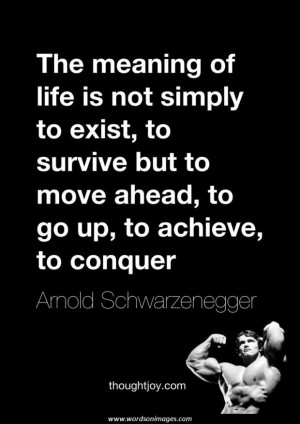 Arnold Schwarzenegger Motivational Quotes