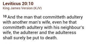 Adultery Quotes Bible It punishes adultery with