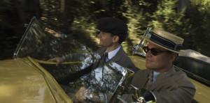 Nick Carraway (Tobey Maguire) and Jay Gatsby (Leonardo DiCaprio) head ...