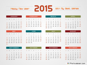 2015 Calendars Mixed Designs, Ready For Use