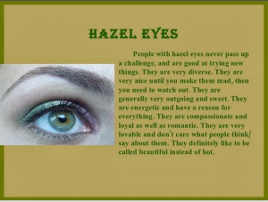 hazel eyes people with hazel eyes never pass up a challenge and are ...