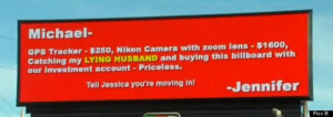 ... Scorned Wife Appears To Call Out Spouse On North Carolina Sign (VIDEO