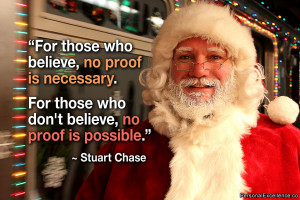 "... For those who don't believe, no proof is possible."" ~ Stuart Chase"