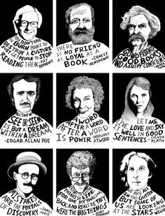 ... quotes, edgar allan poe, writers, james joyce, oscar wilde, mark twain