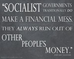 Margaret Thatcher Socialism Quote - Wall Art - 8x10