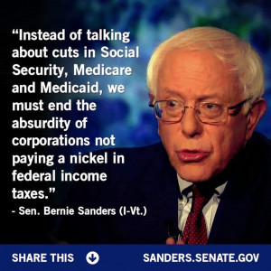Bernie Sanders is spot on