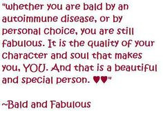 ... beautiful inside alopecia quotes fabulous bald beautiful whether