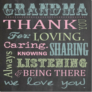 Grandma Chalk Board in color - Square