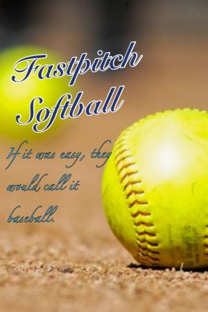 Fastpitch softball!