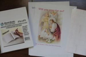 Spiritual Bouquet Keepsake Book for First Holy Communion