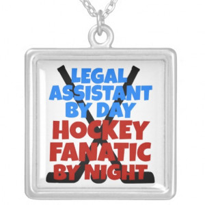 Hockey Lover Legal Assistant Jewelry