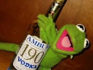 Kermit the frog drunk Image