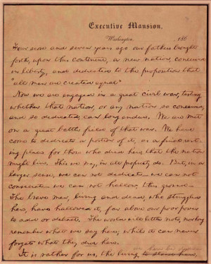 Abraham Lincoln Gettysburg Address Quotes