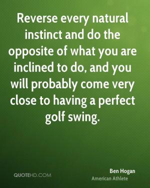 Ben Hogan Sports Quotes