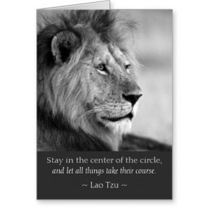 Lao Tzu Quotes Lion Animal Card