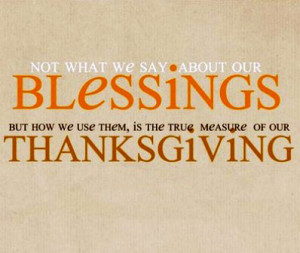 Thanksgiving quotations