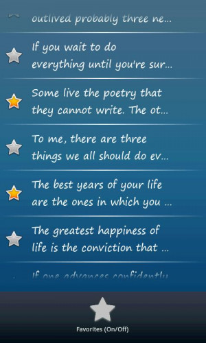 Memorable Quotes Android App Recent Changes