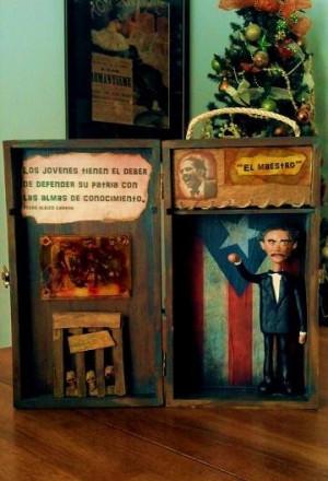 ... media Art shadowbox Pedro Albizu Campos by Angie Ramos #puertorico