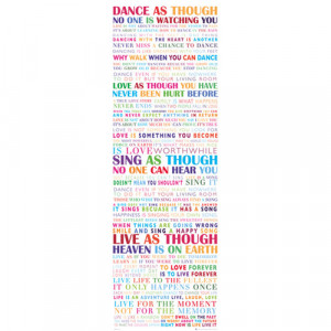 ... Door-Poster-53X158cm-Inspirational-Quotes-Motivational-Life-Print-Gift