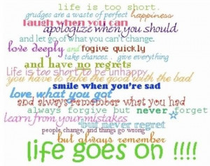 life goes on!!!