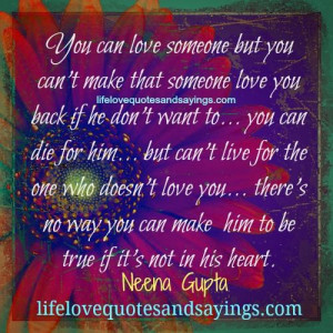 You Can Love Someone..