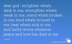 God Heal Me