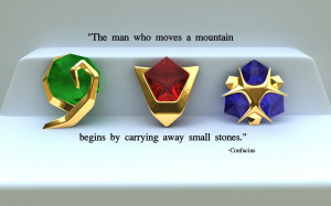 mountains quotes stones the legend of zelda confucius 1440x899 ...