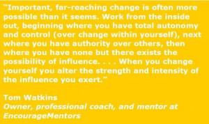 Tom Watkins quote
