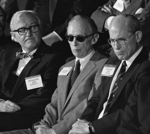 Justices John Paul Stevens (left) and Lewis Powell (center) eventually ...