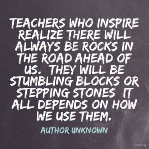 Famous Inspirational Quotes About Teachers Quotesgram