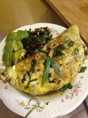 For Breakfast, Avocado-Bacon Omelet Recipe