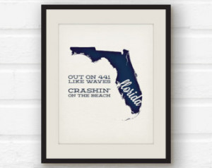 ... Tom Petty lyrics - Tom Petty quote - States song print - song lyric
