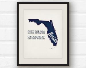 ... Tom Petty lyrics - Tom Petty quote - States song print - song lyric