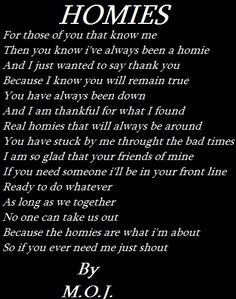 Gangsta Poems About Life | Homie Love Poems More