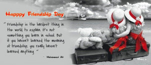 Happy Friendship Day Greetings Quote With Babies And teddy bear HD ...