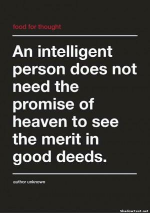 The Merit in Good Deeds