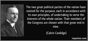 The two great political parties of the nation have existed for the ...