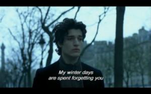 subtitles, love, melancholy, sadness, wintertime, louis garrel