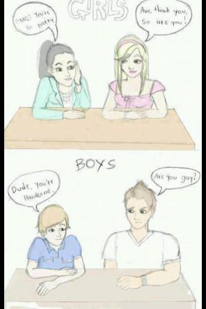 Boy Discrimination Gender Girl Handsome Pretty