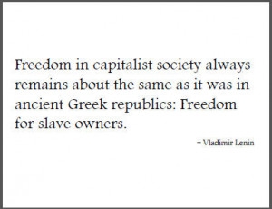 Vladimir Lenin Quote on Capitalist Society
